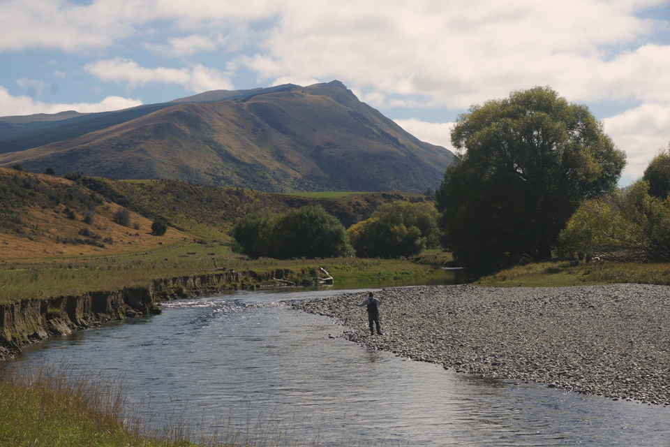 Clouds, Mountains, and Fly Fishing Rivers in New Zealand