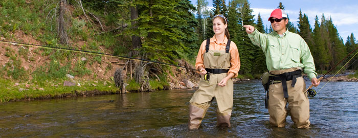fly fishing according to stock photography bumpy water